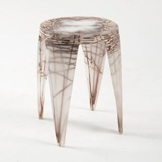 Wiktoria Szawiel fossilises natural fibres in resin furniture collection Acrylic Furniture, Table Furniture, Furniture Making, Home Furniture, Furniture Design, Paper Furniture, Wicker Furniture, Resin Table, Fibres