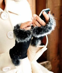 Faux Fur Fingerless Gloves Brand New.