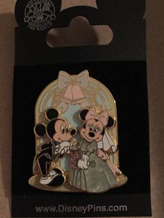 Mickey & Minnie Wedding Bells Disney Pin