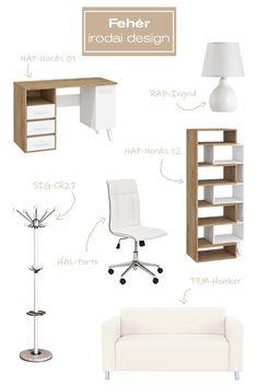 Elegáns, mutatós és modern irodát vagy dolgozószobát szeretnél kialakítani? Akkor most segítünk neked az ötletelésben. Rendeld meg webáruházunkból a képen megnevezett termékeket, és garantáltan meg fog felelni minden az elképzelésednek. #iroda#office#irodaidesign#officedesign#desk#íróasztal#lámpa#lamp#kanapé#sofa#chair#forgószék#ötlet#ideas#white#fehér Minden, Ravenna, Office