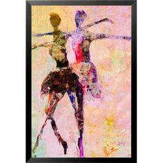 "Buy Art For Less 'Dancer's Decor VII' by Cliff Warner Framed Painting Print Size: 18"" H x 12"" W x 1.25"" D"