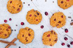 Pumpkin Cranberry Cookies - Plant-Based Vegan Recipe