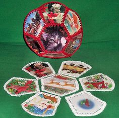 Use old Christmas cards to make bowl