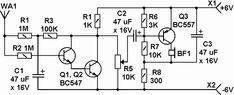 How to find hidden wires  circuit diagram of AC mains detector