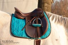 Love this color!! And yes, I am a saddle pad hoarder. No shame.