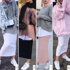 Tag your friends . Modest Fashion Hijab, Modern Hijab Fashion, Casual Hijab Outfit, Hijab Fashion Inspiration, Hijab Chic, Muslim Fashion, Skirt Fashion, Hijab Style Dress, Casual Outfits