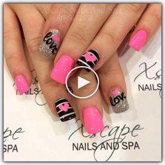 Valentine s day nail designs cute nails acrylic proartcat fingernails Fancy Nails, Love Nails, Diy Nails, Pretty Nails, Valentine's Day Nail Designs, Acrylic Nail Designs, Acrylic Nails, Nails Design, Valentine Nail Art