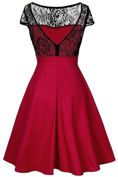 Cupshe Romantic Fantasy Lace Splicing Waisted Dress