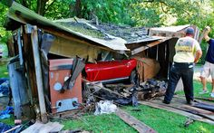 This 1965 Corvette Was Stored For 30 Years In A Tiny Shed The Real Trick Was Getting It Out Before The Roof Collapsed Barn Finds 1965 Corvette Car Barn