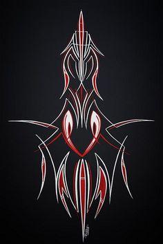 Red n White stripes J Birds, Pinstripe Art, Pinstriping Designs, Paint Line, Custom Paint Jobs, Airbrush Art, Lowbrow Art, Lost Art, Bike Design