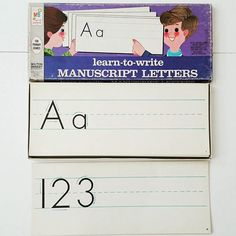 #vintage 'Learn to Write Manuscript Letters' 30 cards in set $5.00 + shipping #vintageschool #backtoschool #schooldecor