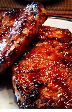 "World's Best Honey Garlic Pork Chops ""A quick and simple grilled pork chop that everyone will love featuring a simple and easy glaze."" World's Best Honey Garlic Pork Chops – World's Best Honey Garlic Pork Chops Pork Chops And Rice, Honey Garlic Pork Chops, Oven Baked Pork Chops, Smoked Pork Chops, Barbeque Pork Chops, Honey Glazed Pork Chops, Brown Sugar Pork Chops, Crock Pot Pork Chops, Asian Pork Chops"