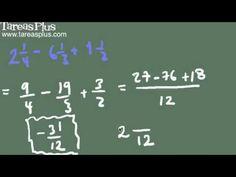Resta de números mixtos Math Equations, Studio