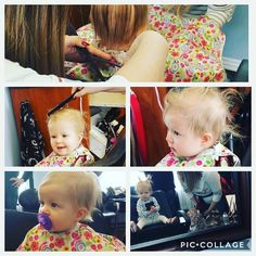 First haircut for this sweet 7 month old #nomoremulletwisp #babyBARRONess