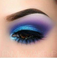 #eyemakeup #purple&blue #glitter #pretty #colourful