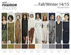 FASHION VIGNETTE: TRENDS // FASHION SNOOPS . COLORS A/W 2014-15 - some of my favorite colors!