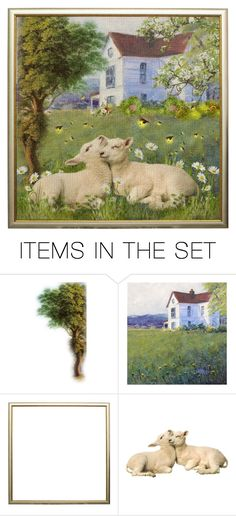 """""""Sweet Sheep-contest"""" by loves-elephants ❤ liked on Polyvore featuring art"""