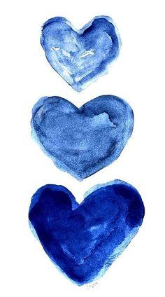 I K I - Who doesn't love blue and white? Art Bleu, Deco Pastel, Everything Is Blue, Heart Art, Blue Aesthetic, Indigo Blue, Something Blue, Shades Of Blue, 50 Shades