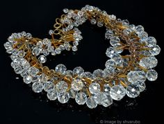 VTG EARLY MIRIAM HASKELL CLUSTER FACETED CRYSTAL GLASS BEADS NECKLACE