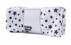 Stofbleer hvid med stjerneprint