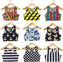 New! Hot! Summer Style 3D Printed Tank Tops Harajuku Women Punk Sexy Kawaii Crop Top Sports Slim Camisoles Sleeveless Vest(China (Mainland))
