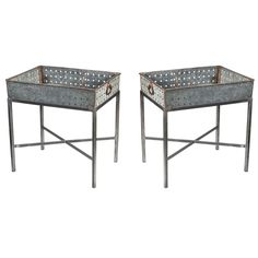 Zinc Tables...planters perhaps? - I could you 4 of these on my long gravel patch for mini/faery gardens