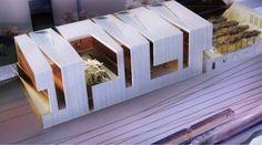 Idea Musée Cantonal des beaux-arts de Lausanne by Allied Works Architecture Lausanne, Maquette Architecture, Interior Architecture, Architecture Diagrams, Architecture Portfolio, Landscape Architecture, Casa Patio, Arch Model, Design Competitions