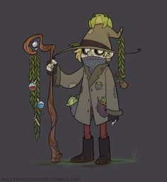 """hollywood-voodoo: """"Behold: My witchsona for Witchsona Week. A swamp witch who has a knack for alchemy and a nasty habit of collecting frogs. Ayup. """""""