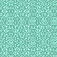 Lazy Day - Hexagon in Teal Dressmaking Fabric, Lazy, Teal, Quilts, Knitting, Sewing, Cotton, Crafts, Scrappy Quilts