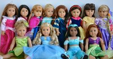 American Girl Doll Disney Princesses ~ Frozen, Cinderella, Ariel, Belle ...