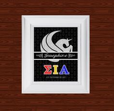 Greek life. SIA est. name design find it at Www.facebook.com/custom.designs.by.ana