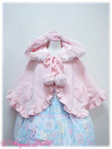 Lyrical Bunny Heart Cape in Pink 2013