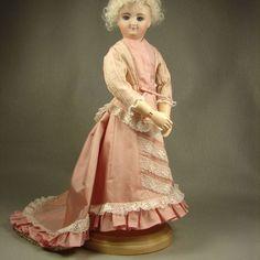 Antique Pink Silk 2pc Lady Doll Dress for 12 inch French Fashion Gildebrief Body
