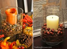 Fall Decorating Inspired by Pottery Barn - I'm SO going to do this! via @livelaughrowe