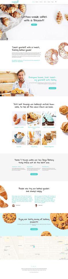 $75 - Bakery Responsive WordPress Theme                              …