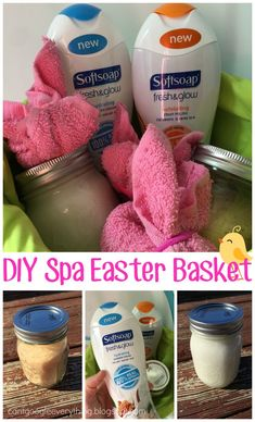 Creative easter basket ideas for baby pinterest creative easter spa easter basket with softsoap fresh and glow perfect easter gift for a girlfriend negle Images