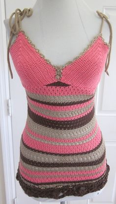 cute crocheted top. No pattern just posting for inspiration