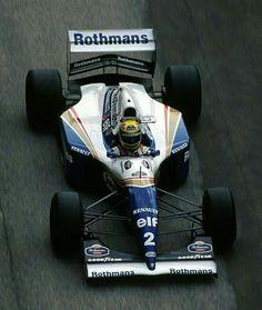 Ayrton Senna Driving The Williams Renault Grand Prix, Ferrari, Jochen Rindt, Gp F1, Mick Schumacher, Course Automobile, Williams F1, Gilles Villeneuve, Formula 1 Car