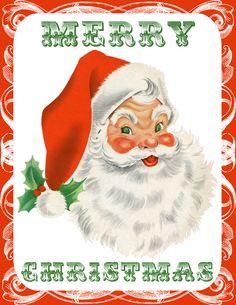 Free Retro Santa and Snowman Printable Wall Decor!