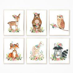 Woodland Animals Nursery Art. Woodland Nursery. Woodland