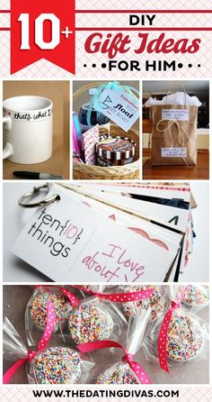 LOVING all of these easy and adorable DIY gifts ideas 'just because' for hubby! www.TheDatingDivas.com