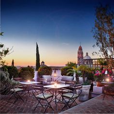 Roof-top terrace in San Miguel de Allende