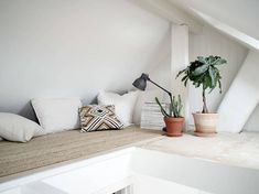 my scandinavian home: A Swedish home with a little reading nook in the eaves