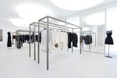 Maison Alaïa, Paris. Industrial designer Martin Szekely designed the shelving units. Photo by Dominique Maitre.