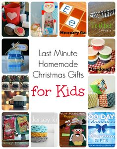Last Minute Homemade Christmas Gifts for Kids | The Happy Housewife
