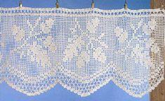 Free Crochet Patterns Index Crochet Curtain Pattern, Crotchet Patterns, Crochet Curtains, Curtain Patterns, Crochet Doilies, Crochet Home, Love Crochet, Thread Crochet, Crochet Stitches