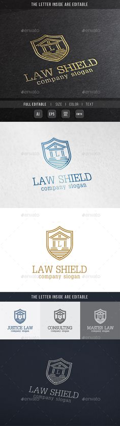 Law Shield - Justice Building Logo Template #design Download: http://graphicriver.net/item/law-shield-justice-building-logo-template/10023181?ref=ksioks