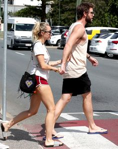 G'day (soul)mates!  Miley Cyrus and Liam Hemsworth continued to soak up the sun in the actor's native Australia on Thursday with a trip to theRick Shores restaurant in Burleigh Heads on the Gold Coast, Queensland.   #Australia #Cyrus #Days #hands #Hemsworth #hold #Liam #lunch #Miley #Parents
