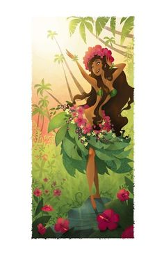 The second of my two new additions to the Hawaiian Gods and Goddesses series. Laka is the Hawaiian goddess of forest, plenty, song, and dance -