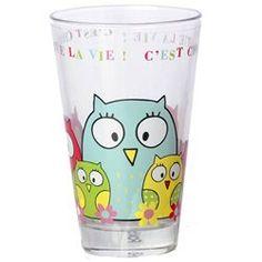 Grand verre à jus de fruit Hiboux FOX TROT